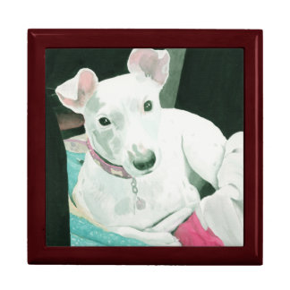 Sully the Jack Russell Terrier Keepsake Boxes