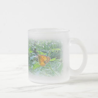 Sulpher Butterfly at Woods' Edge 10 Oz Frosted Glass Coffee Mug