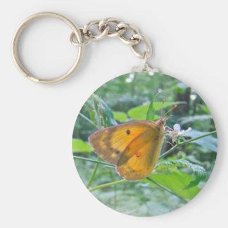 Sulpher Butterfly Basic Round Button Keychain