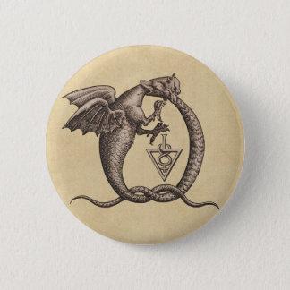 Sulphur and Mercury Dragons Button