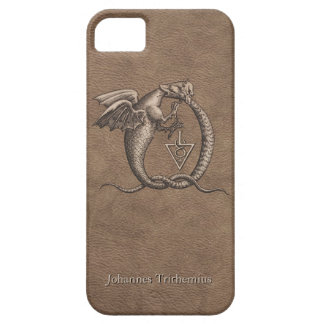 Sulphur and Mercury Leather Personalized iPhone SE/5/5s Case