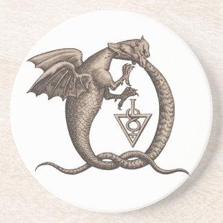 Sulphur and Mercury Ouroboros Symbol Drink Coaster