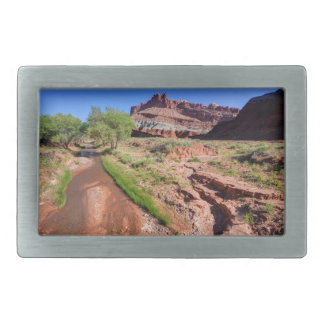 Sulphur Creek Flows Through Capitol Reef Belt Buckle