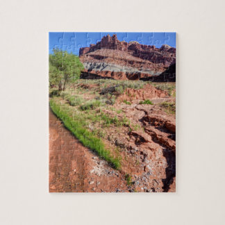 Sulphur Creek Flows Through Capitol Reef Jigsaw Puzzle