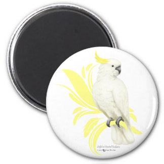 Sulphur Crested Cockatoo 2 Inch Round Magnet
