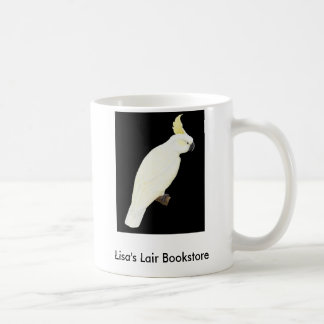 Sulphur-crested Cockatoo - Cacatua galerita black Coffee Mug