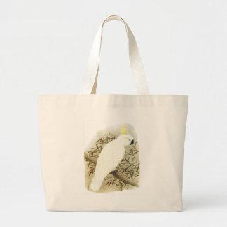 Sulphur-crested Cockatoo - Cacatua galerita Large Tote Bag