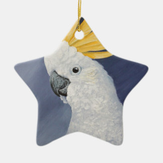 Sulphur crested Cockatoo gift for the parrot lover Ceramic Ornament