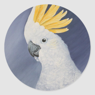Sulphur crested Cockatoo gift for the parrot lover Classic Round Sticker