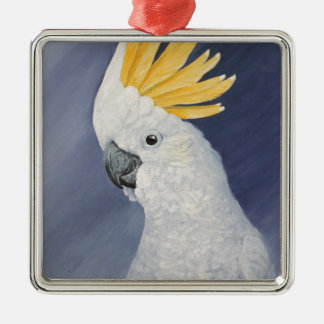 Sulphur crested Cockatoo gift for the parrot lover Metal Ornament