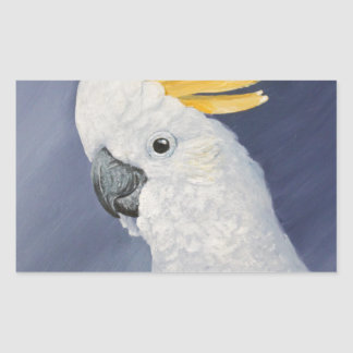 Sulphur crested Cockatoo gift for the parrot lover Rectangular Sticker