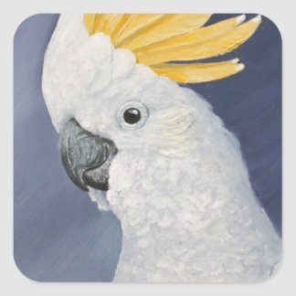 Sulphur crested Cockatoo gift for the parrot lover Square Sticker
