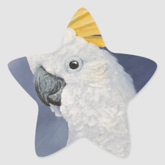 Sulphur crested Cockatoo gift for the parrot lover Star Sticker