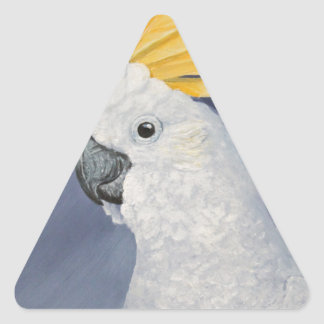 Sulphur crested Cockatoo gift for the parrot lover Triangle Sticker
