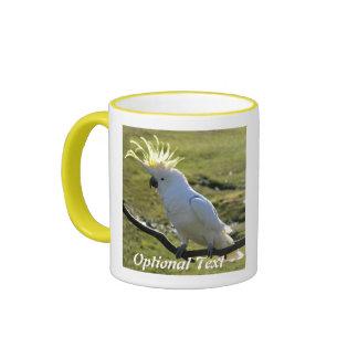 Sulphur-Crested Cockatoo in Australia Ringer Coffee Mug