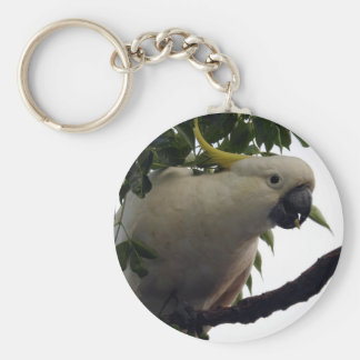Sulphur-Crested Cockatoo Key Ring Keychain