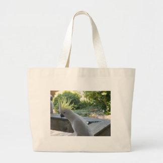 Sulphur Crested Cockatoo Large Tote Bag