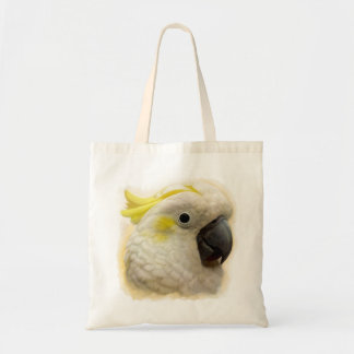 Sulphur Crested Cockatoo realistic painting Tote Bag