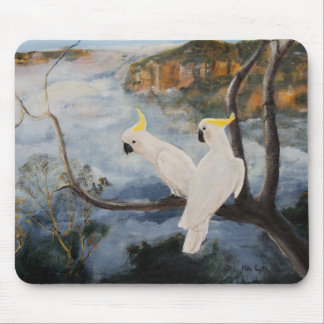 Sulphur-Crested Cockatoos in The Blue Mountains' Mouse Pad
