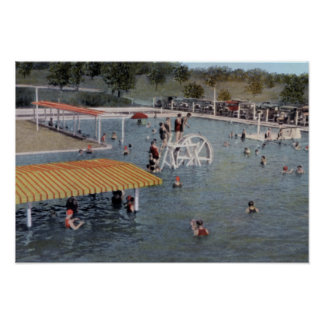 Sulphur Oklahoma Belleview Mineral Pool Poster