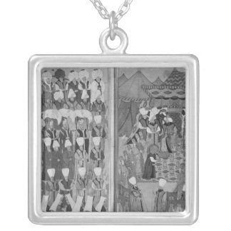 Sultan Ahmed III Distributing Money Silver Plated Necklace