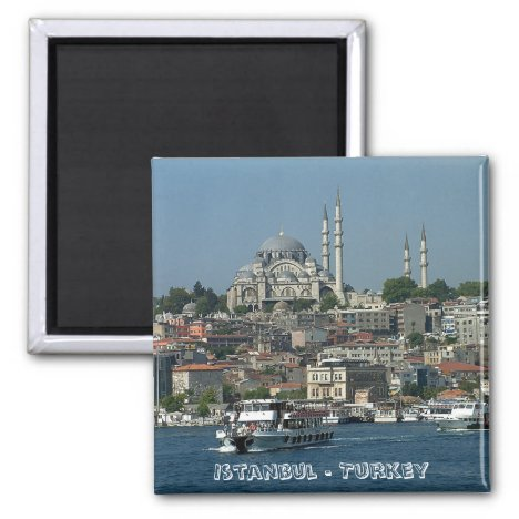 Sultan Ahmed, Istanbul, Turkey (Fridge Magnet)