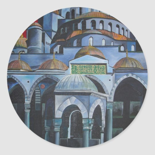 Sultan Ahmed Mosque, Istanbul Classic Round Sticker