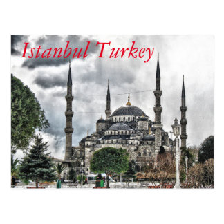 Sultan Ahmed Mosque - Istanbul Turkey Postcard