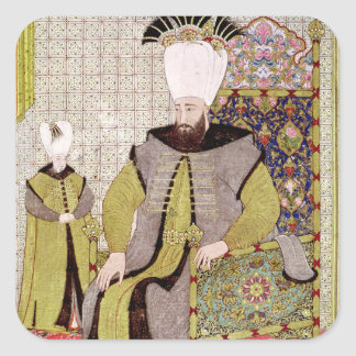 Sultan Ahmet III  and the heir to the throne Square Sticker