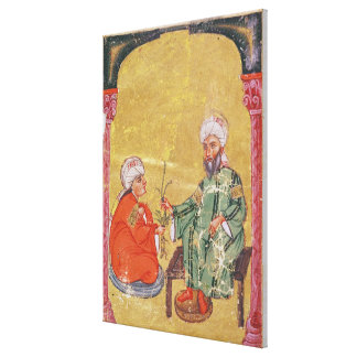 Sultan Ahmet III  with one of his disciples Canvas Print