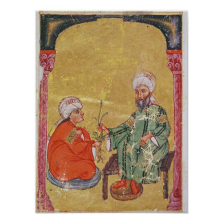 Sultan Ahmet III  with one of his disciples Poster