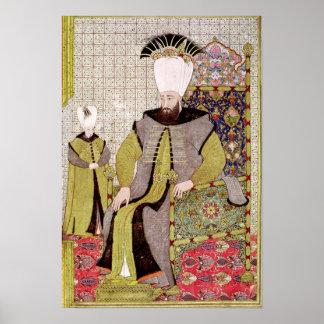 Sultán Ahmet III y el heredero al trono Póster