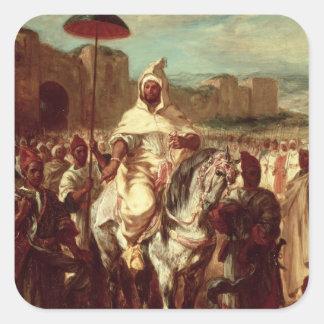 Sultán de Abd AR-Rahman de Marruecos Pegatina Cuadrada