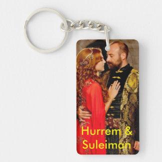 Sultán del EL Gran de Suleiman Llavero Rectangular Acrílico A Doble Cara