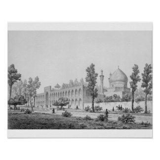 sultán Hussein de Madrasa-yi Masjid-i Shah, en Isf Impresiones