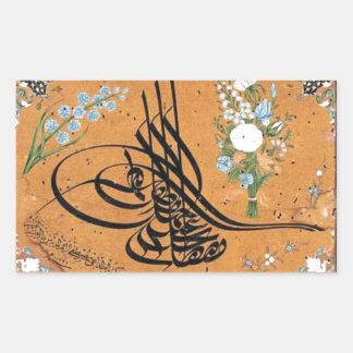 Sultan IV Mustafa by Mustafa Rakim Rectangular Sticker