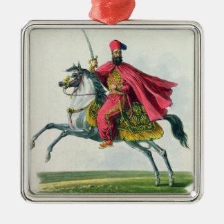Sultán Mahmud II 1829 Adorno Cuadrado Plateado