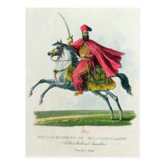 Sultan Mahmud II  1829 Postcard