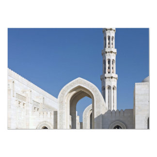 Sultan Qaboos Grand Mosque Muscat Sultanate Oman Card