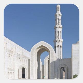 Sultan Qaboos Grand Mosque Muscat Sultanate Oman Square Sticker