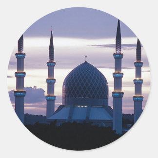 Sultan Salahuddin Abdul Aziz Mosque, Shah Alam, Se Classic Round Sticker
