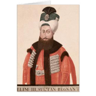 Sultan Selim III  18th-19th century Card