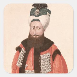 Sultan Selim III  18th-19th century Square Sticker