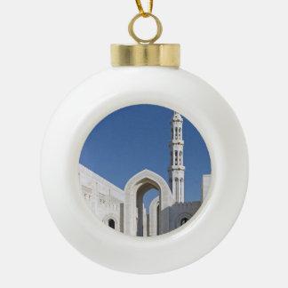 Sultanato magnífico Omán de Muscat de la mezquita  Adorno