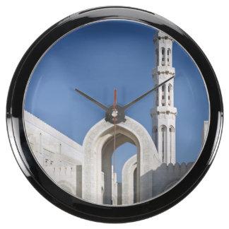 Sultanato magnífico Omán de Muscat de la mezquita  Relojes Pecera