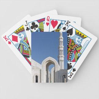 Sultanato magnífico Omán de Muscat de la mezquita  Baraja Cartas De Poker