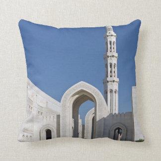 Sultanato magnífico Omán de Muscat de la mezquita  Cojin