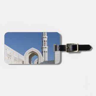 Sultanato magnífico Omán de Muscat de la mezquita  Etiquetas Maletas