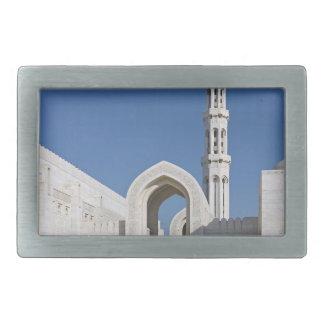 Sultanato magnífico Omán de Muscat de la mezquita  Hebillas De Cinturon Rectangulares