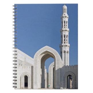 Sultanato magnífico Omán de Muscat de la mezquita  Libreta Espiral